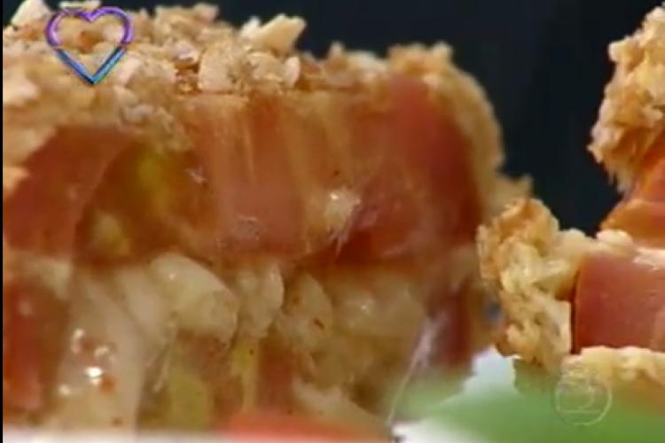 Sanduíche de tomate foi receita apresentada hoje, 22/01, no Mais Você por Ana Maria Braga (Foto: Reprodução/Tv Globo)