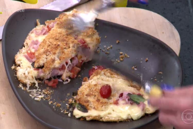 Sanduíche de pão dormido foi receita apresentada hoje, 27/01, por Ana Maria Braga no Mais Você (Foto: Reprodução/Tv Globo)
