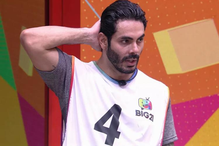 Sertanejo é o primeiro anjo do BBB21 e já garantiu imunidade para Caio  (Foto: Reprodução/Tv Globo)