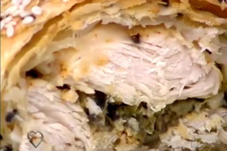 Croissant de frango foi receita apresentada hoje (10/02) no Mais Você por Ana Maria Braga (Foto: Reprodução/Tv Globo)