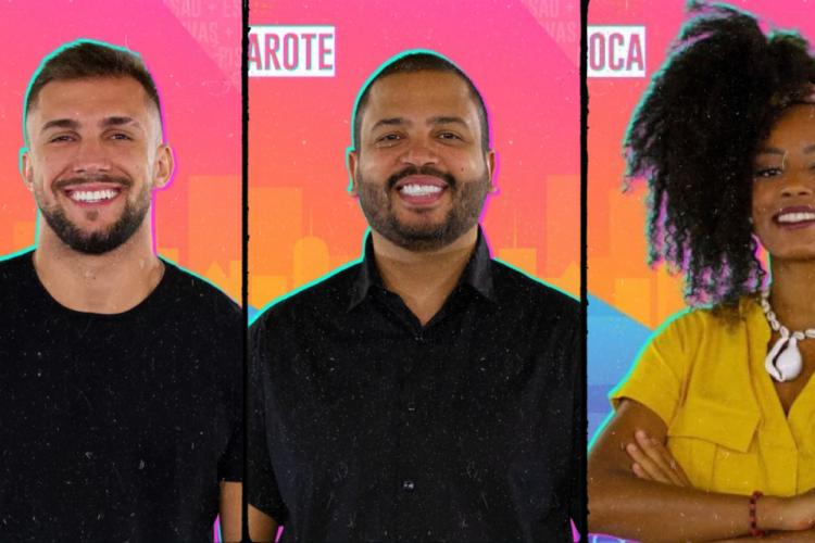 Arthur, Lumena ou Projota? Vote na enquete O POVO e indique o candidato que deve deixar o reality show da TV Globo (Foto: TV Globo / Reprodução )