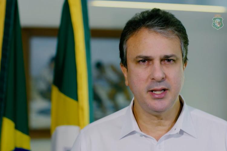 Camilo esteve em reunião com o ministro da Saúde, Eduardo Pazuello, nesta segunda-feira,8 (Foto: Divulgação/Governo do Ceará)
