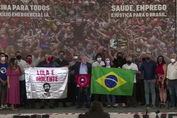 Ex-presidente Luiz Inácio Lula da Silva (PT) em entrevista coletiva na quarta-feira, 10. (Foto: Imagem/Reprodução)