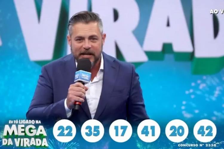 Números sorteados pela Mega da Virada (Foto: Reprodução/TV Globo)