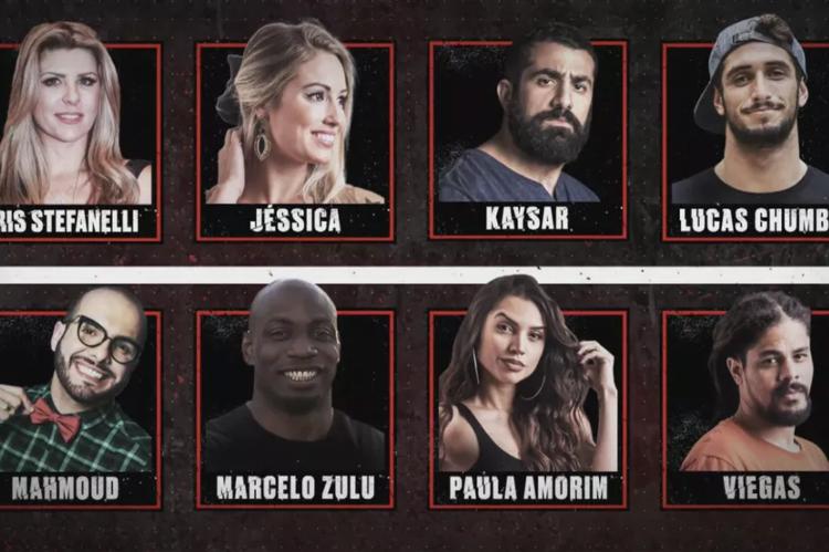 Elenco do No Limite é formado por ex-BBBs: Íris, Jéssica, Kaysar, Lucas, Mahmoud, Zulu, Paula e Viegas