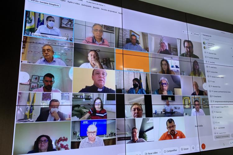 O comitê inclui 30 órgãos e instituições cearenses que têm auxiliado a gestão estadual no enfrentamento da Covid-19 (Foto: Reprodução/Twitter)