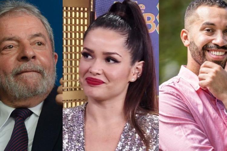 Lula seguiu Juliette, Gil e Arthur. Durante o programa, os três participantes também criticaram o governo de Bolsonaro (Foto: Agência Brasil/ Reprodução TV Globo)