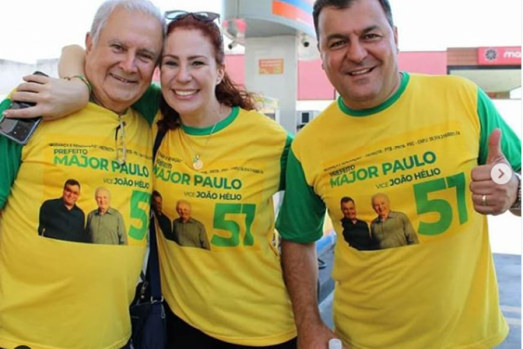Carla Zambelli ao lado do irmão Bruno Zambelli (d) (Foto: REPRODUÇÃO/REDES SOCIAIS )