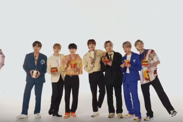 Banda coreana lançou parceria exclusiva com o McDonald's (Foto: Reprodução/Youtube)