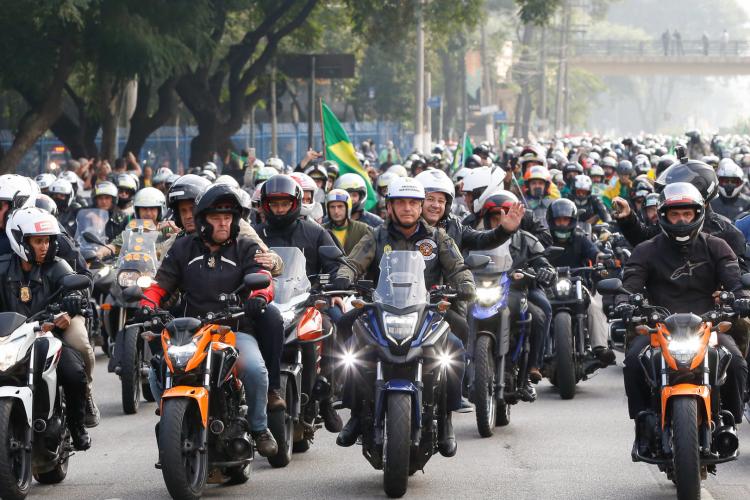Guinness Book se manifesta contra o seu uso com motivações políticas e desmente bolsonaristas sobre motociata do último sábado, 12, em São Paulo   (Foto: Alan Santos/PR)