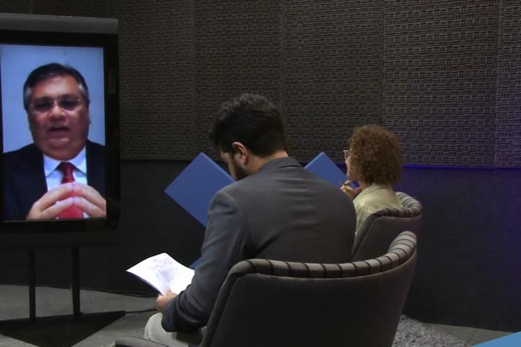 governador do Maranhão, Flavio Dino, concede entrevista ao O POVO nesta terça-feira, 15 (Foto: Reprodução / YouTube)