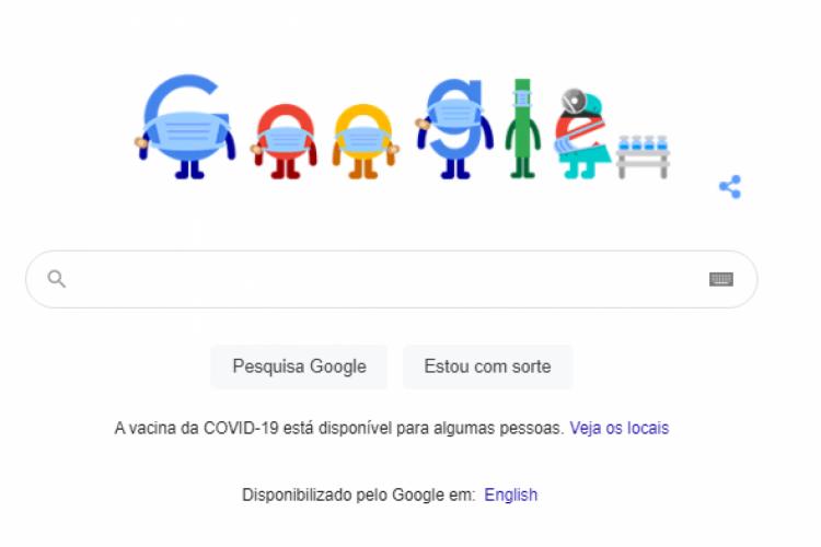 Animação está na página inicial do buscador (Foto: Reprodução/Google)