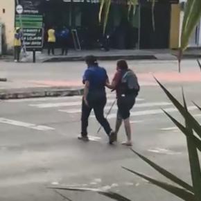 O gesto que viralizou aconteceu por volta de 16 horas na avenida Godofredo Maciel