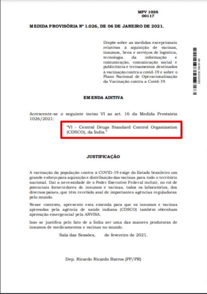 Emenda do Ricardo Barros