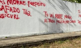 Ameaças feitas por criminosos contra o prefeito de Santana do Acaraú, Francisco das Chagas Mendes (PL), conhecido como