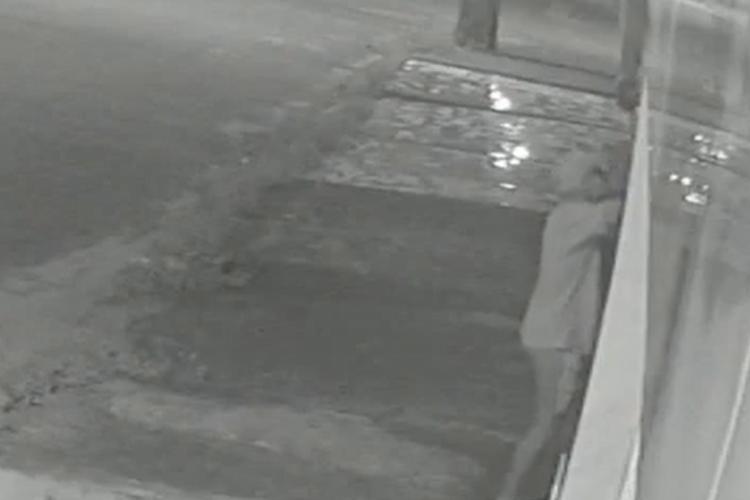 Polícia Militar tenta identificar o homem que aparece no vídeo (Foto: VOCÊ FOTÓGRAFO)