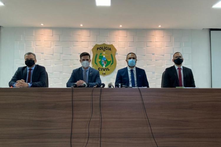 Informações sobre a operação foram divulgadas pela Polícia na manhã desta quarta-feira, 7 (Foto: ANGÉLICA FEITOSA/O POVO)