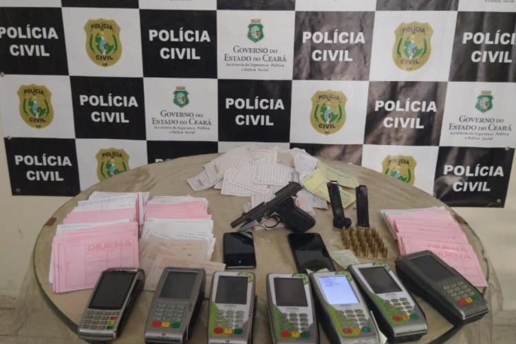 Itens apreendidos em ação policial (Foto: Divulgação/SSPS)