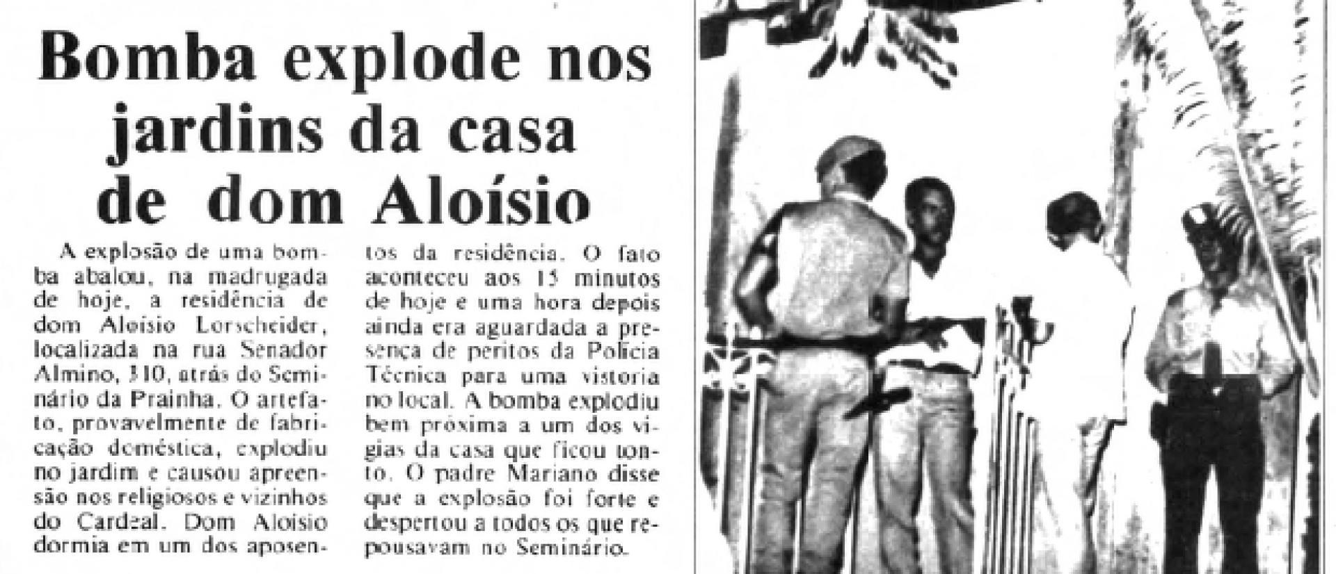 Na edição de 21 de fevereiro de 1987, O POVO registrou o atentado daquela madrugada(Foto: O POVO.DOC)