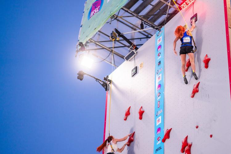 Categoria velocidade na escalada esportiva, modalidade nova nas Olimpíadas de Tóquio  (Foto: Divulgação/IFSC)