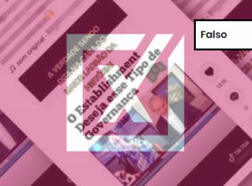 É falso vídeo publicado no TikTok no qual aparecem o jornalista Reinaldo Azevedo e o ex-presidente Lula.