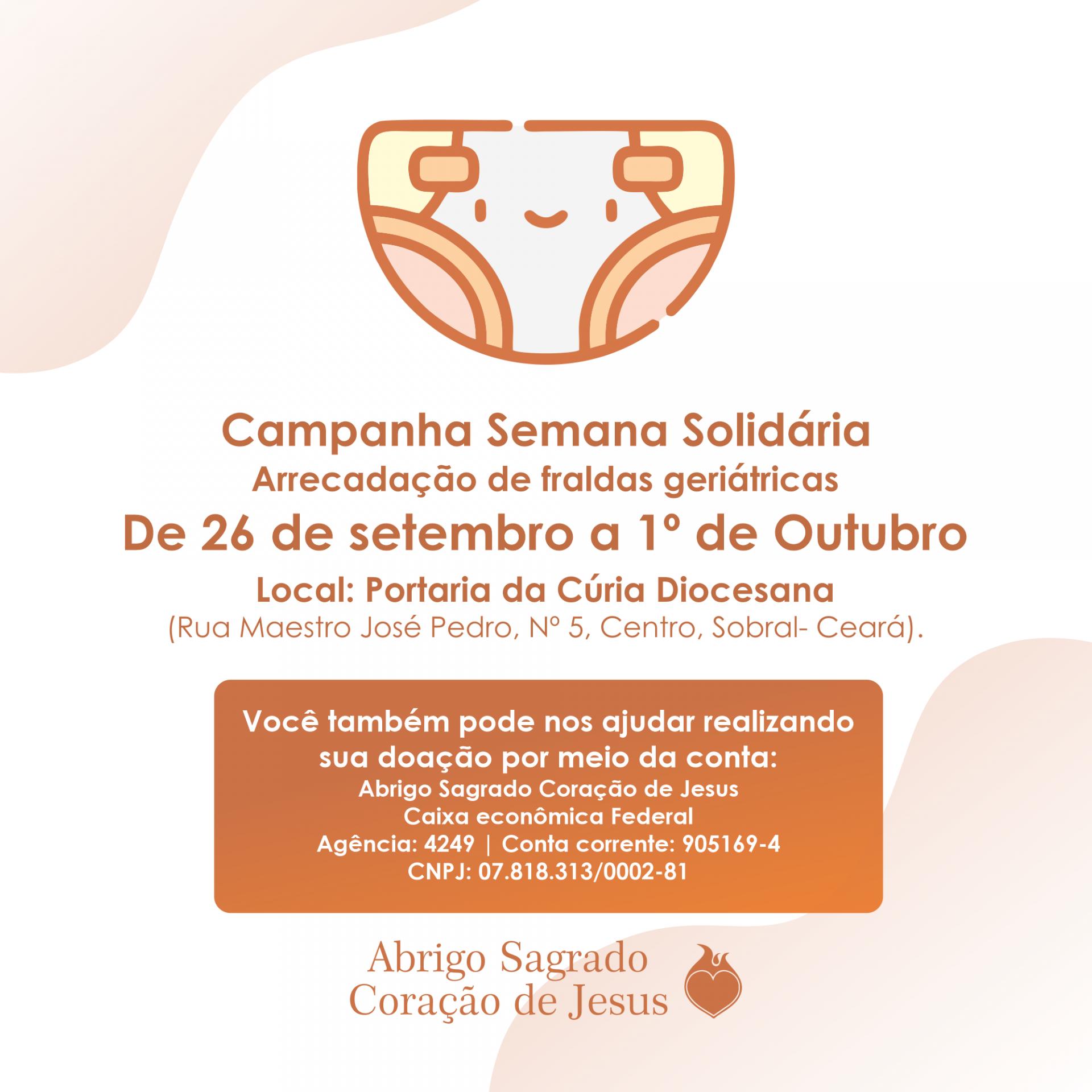 Abrigo de idosos de Sobral recebe doção de fraldas geriátricas