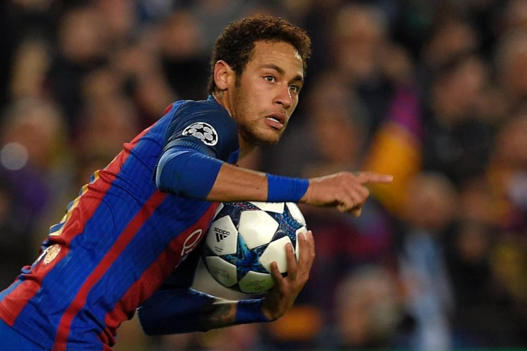 Neymar jogando pelo Barcelona na Champions League. (Foto: )