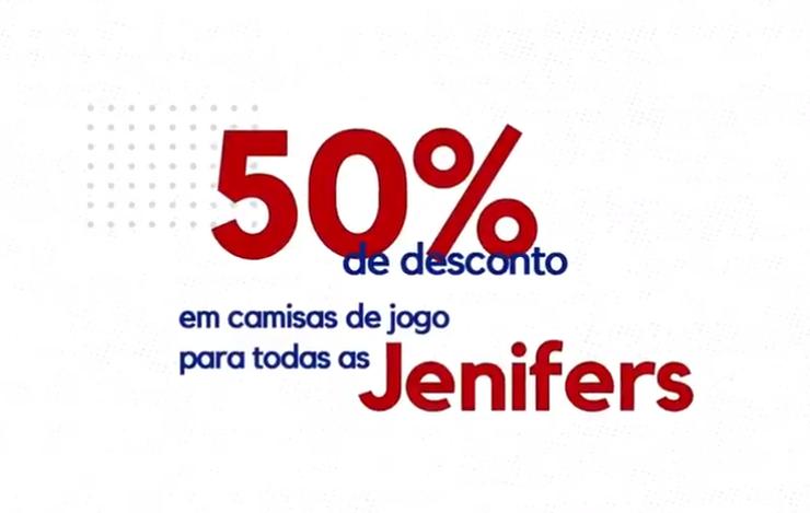 6c1c300f6 Fortaleza Esporte Clube O NOME DELA É... Fortaleza divulga promoção com  desconto de 50% em camisas para pessoas chamadas  Jennifer  Promoção vai  até o dia ...