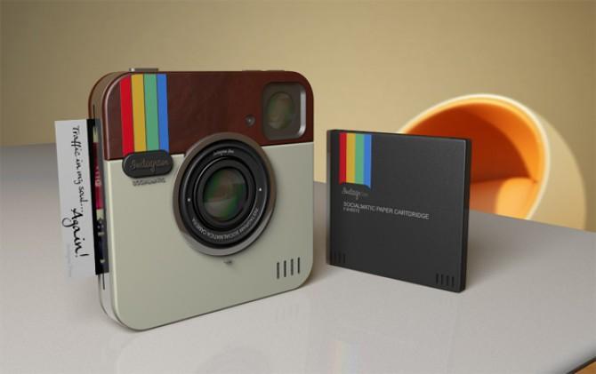 Instagram câmera polaroid lançamento