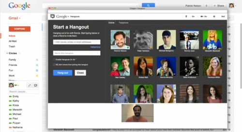 Gmail Google Hangout bate-papo