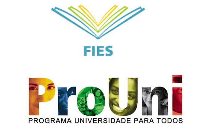 Logomarca do FIES e PROUNI