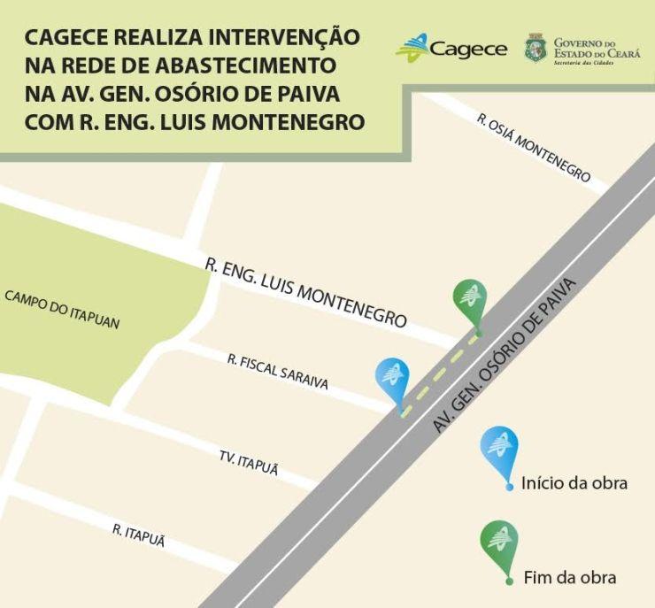 Mapa da Cagece