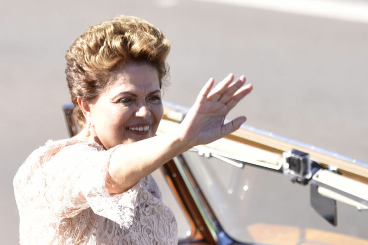 Dilma na posse de seu segundo mandato