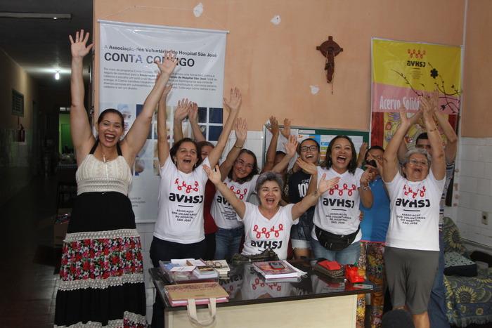 Voluntários da Associação de Voluntários do Hospital São José
