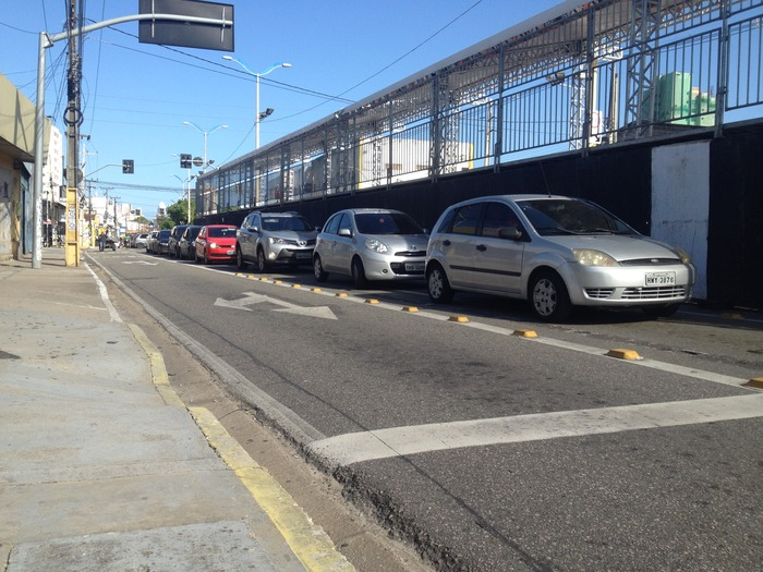 Congestionamento na Domingos Olímpio