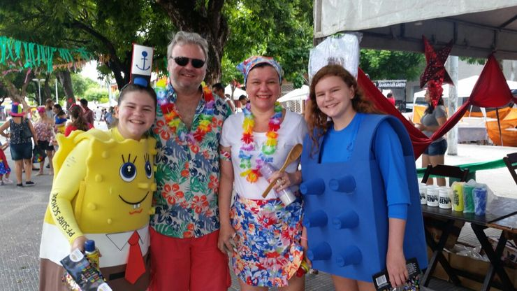 Família no Carnaval do Ben