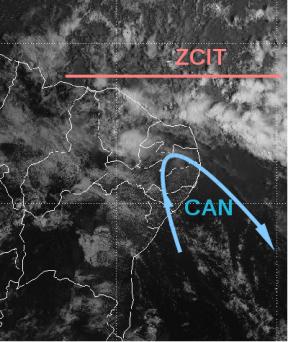 Imagem do satélite GOES-13