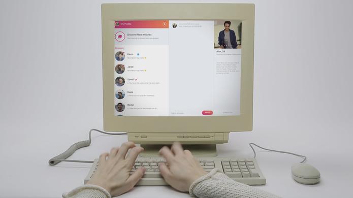 Computador com tela do novo tinder online