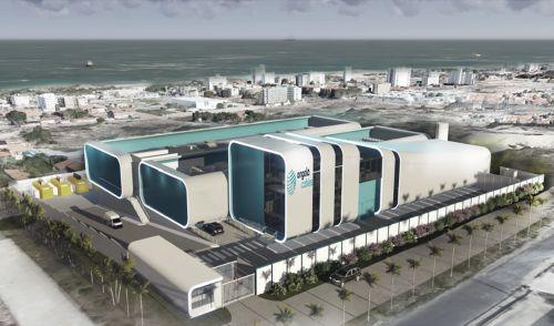 A foto mostra uma visão 3D de como ficará o data center da Angola Cables em Fortaleza