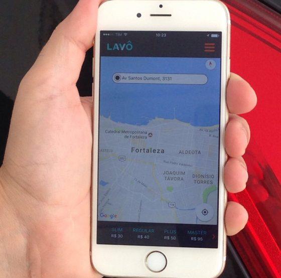 Ma imagem, aparece o aplicativo no celular