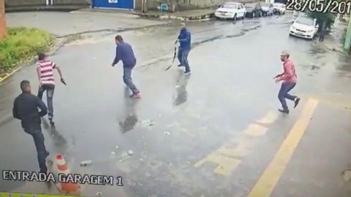Imagens dos assaltantes