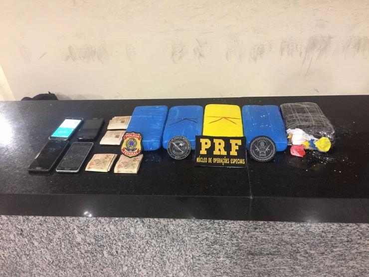 Material apreendido pela PRF