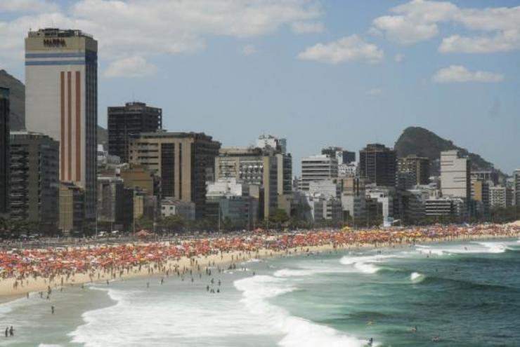 Praia de Copacabana, no Rio de Janeiro