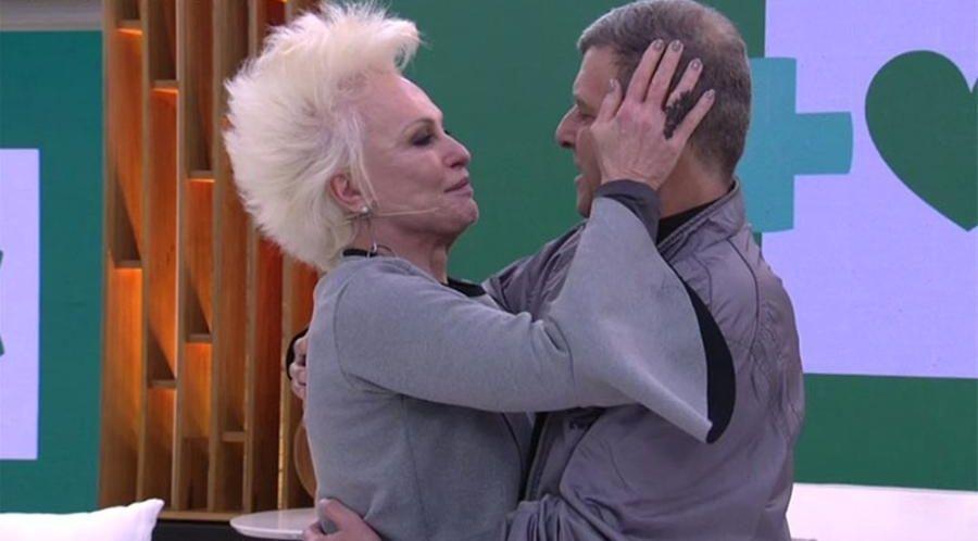 Ana Maria Braga abraçada com Jorge Fernando