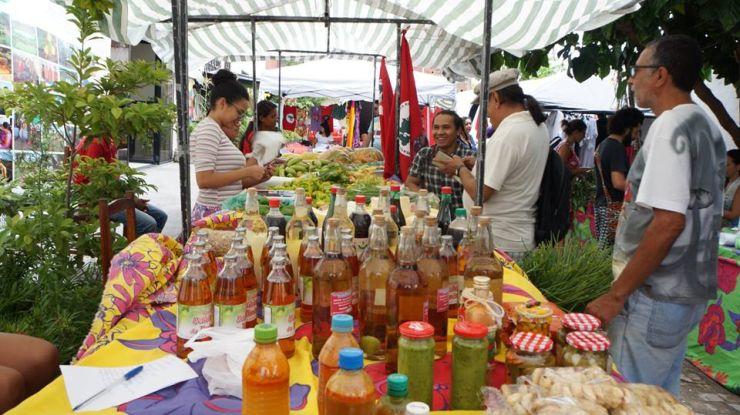 Produtos vendidos na feira
