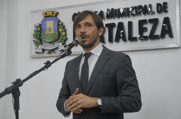Vereador Guilherme Sampaio na Câmara Municipal de Fortaleza