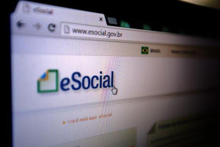Página do eSocial na Internet