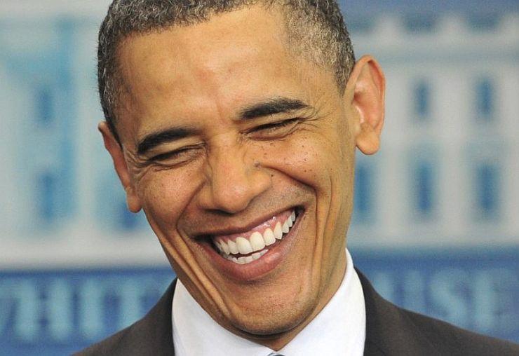 Obama de perfil