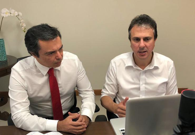 Juvêncio Viana e Camilo Santana
