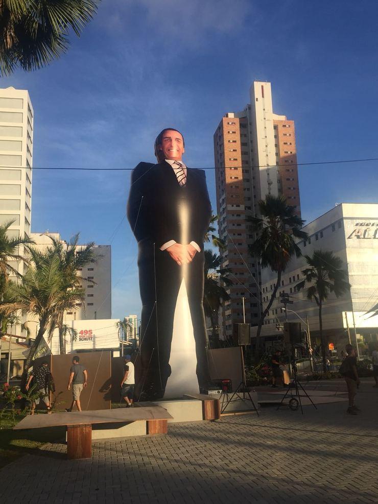 Boneco inflável do deputado Jair Bolsonaro